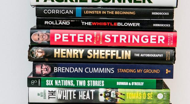 A selection of some of the sports books published this year Photo: Kyran O'Brien