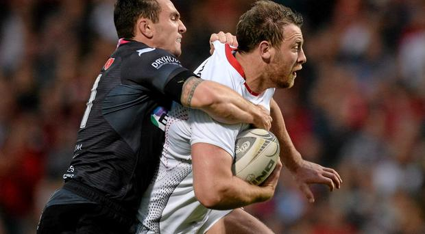 Ulster 'A's vastly experienced flanker Willie Faloon, right, skippers the side against Scarlets. Photo: Sportsfile
