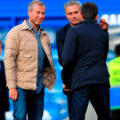 Chelsea owner Roman Abramovich (left) with Jose Mourinho
