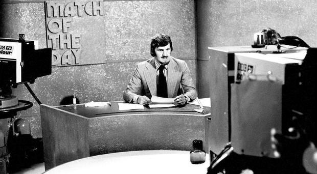 Match of the Day presenter Jimmy Hill on set on 1 September 1973, as the footballer turned broadcaster has died at the age of 87 after suffering from Alzheimer's disease, his family said in a statement. Photo: BBC/PA Wire