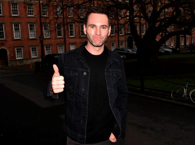 Johnny McDaid and his band Snow Patrol were honoured today with the Gold Medal of Honorary Patronage from Trinity College's Philosophical Society, Trinity College, Dublin, Ireland - 18.12.15. Pictures: Cathal Burke / VIPIRELAND.COM