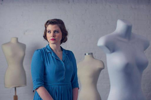 One-woman show: Nessa Matthews is the author and sole actor in 'Way Beyond the Blue', which charts the day of a young woman in a small 1960s US town