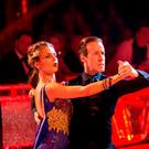 Katie Derham and Anton Du Beke during the final of Strictly Come Dancing. Guy Levy/BBC/PA Wire