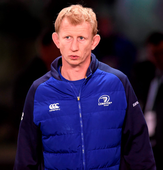 19 December 2015; Leinster head coach Leo Cullen ahead of the game. European Rugby Champions Cup, Pool 5, Round 4, Leinster v RC Toulon. Aviva Stadium, Lansdowne Road, Dublin. Picture credit: Stephen McCarthy / SPORTSFILE