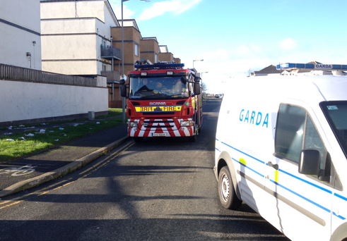 Emergency services are at the scene of the ongoing incident