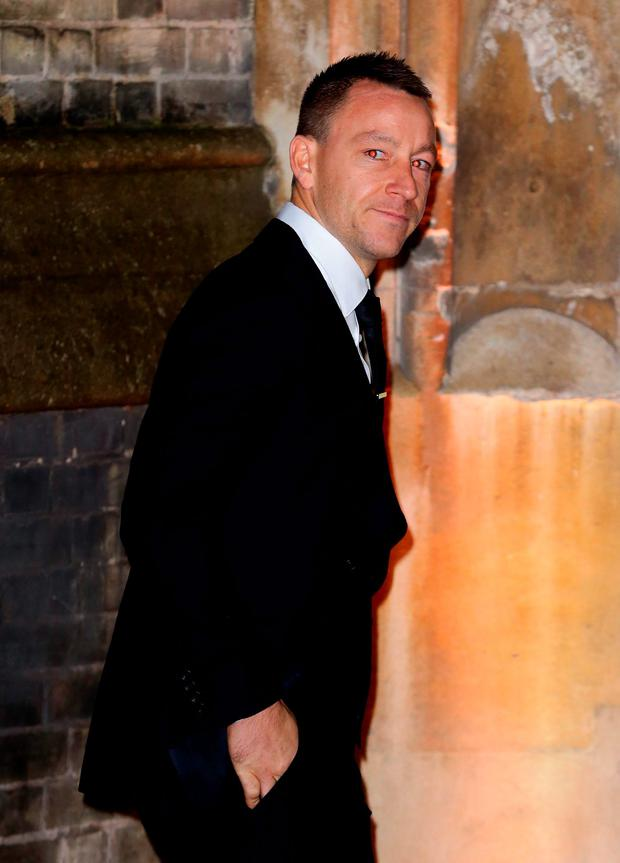 John Terry arrives at the wedding of Christine Bleakley and Frank Lampard at St Paul's Church in Knightsbridge, London. Gareth Fuller/PA Wire