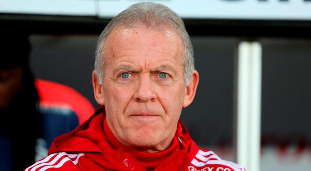 Swansea City's caretaker manager Alan Curtis: 'I was not sure at the time, but when I see it again it looks like a penalty'. Photo: AFP/Getty Images