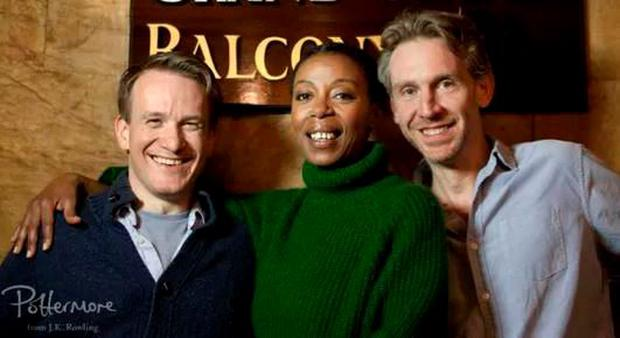 Jamie Parker, Noma Dumezweni and Paul Thornley. PIC: Pottermore/Simon Annand