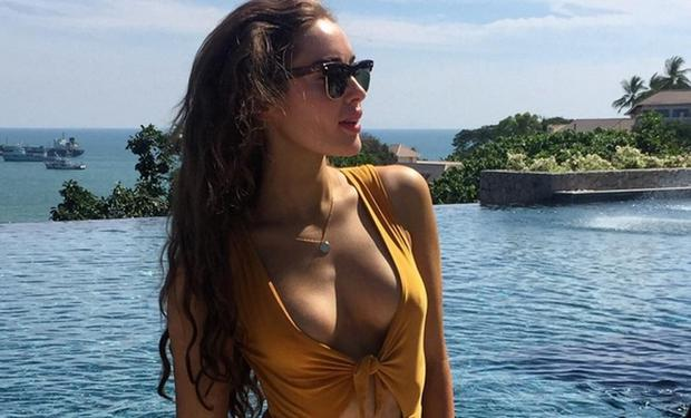 Model Roz Purcell shared this swimsuit photo in Thailand