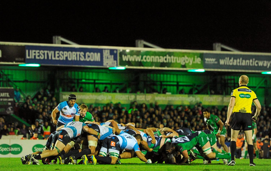 Treviso playing against Connacht last month. Picture credit: Seb Daly / SPORTSFILE