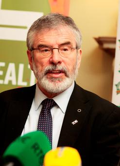 Gerry Adams. Photo: Tom Burke