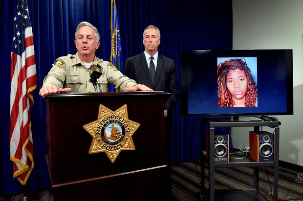 Clark County Sheriff Joe Lombardo, left, and Clark County District Attorney Steve Wolfson speak at a news conference, Monday, Dec. 21, 2015, in Las Vegas