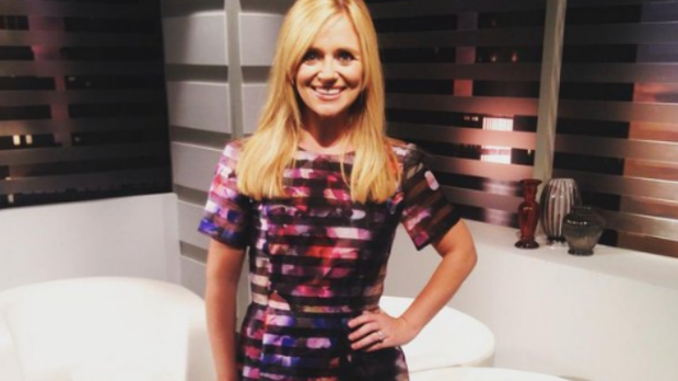 Karen Koster on TV3 set. Photo: Instagram
