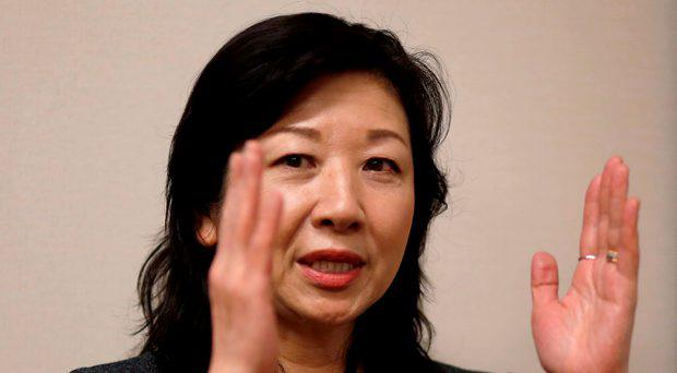 Seiko Noda, a former cabinet minister and Liberal Democratic Party (LDP) policy chief, speaks during an interview with Reuters at her office in Tokyo, Japan, December 21, 2015