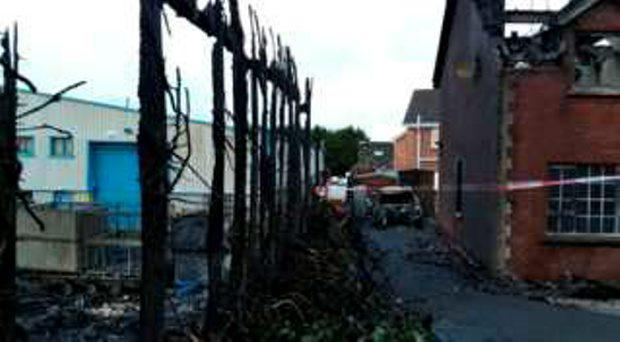 More than 40 firefighters battled the blaze in Kiltarriff Drive in Rathfriland.