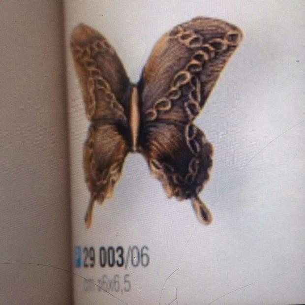 A picture of the butterflies were taken from the grave