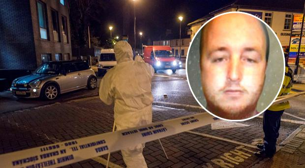 The scene of one of the shootings. (Inset Michael Frazer)