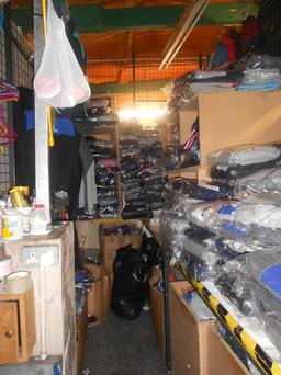 Some of the items seized by gardai yesterday after they carried out two raids in Dublin Credit:Garda Press Office