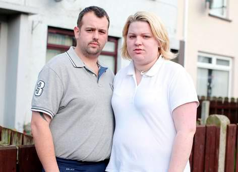Andrew Peden and his wife Rebecca who escaped the fire