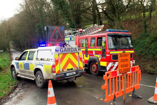 Gardai pictured on the Kilworth to Ballyduff road, co. Cork near the scene of a fatal road traffic collision. Pic Daragh Mc Sweeney/Provision