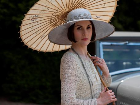 Lady Mary says a final farewell in the 'Downton Abbey' Christmas episode. Photo credit: ITV/PA Wire