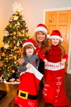 Family ties: Carmel Harrington has passed on her childhood traditions to her son Nate, 4, and daughter Amelia 5. PHOTO: MARY BROWNE