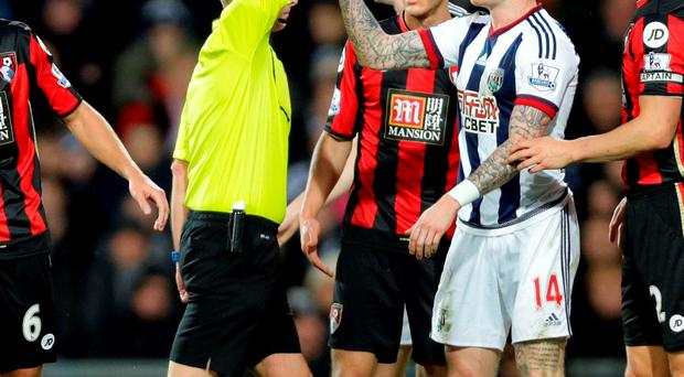 McClean will miss West Brom's games against Swansea, Newcastle and Stoke. Clint Hughes/PA Wire