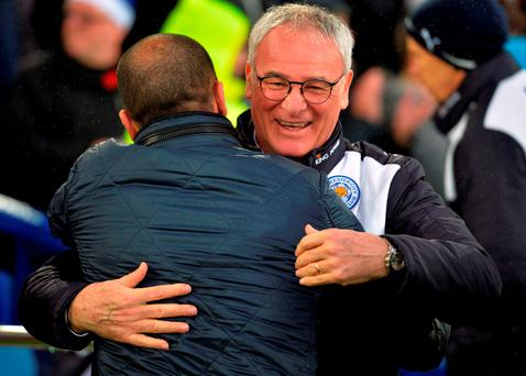 Ranieri has reiterated that little surgery, if any, is needed on his squad in the January transfer window but added that fringe players would be allowed to leave. AFP PHOTO / PAUL ELLIS