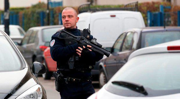 French police are on a high state of terror alert following the Paris attacks. File picture