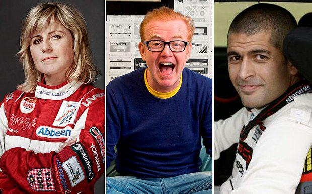 SAbine Schmitz, Chris Evans and Chris Harris will present Top Gear