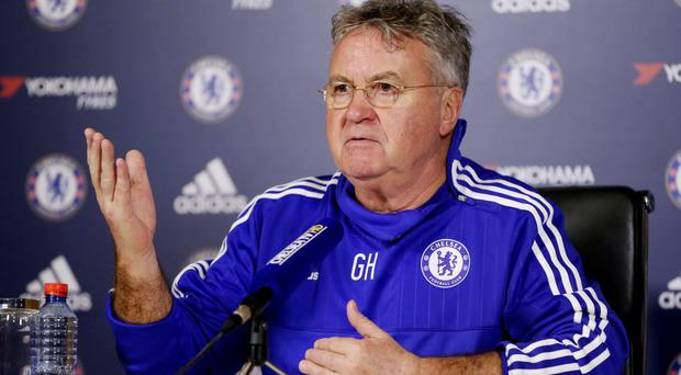 New Chelsea manager Guus Hiddink during the press conference