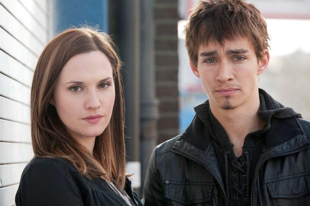 Ruth as Mary with Robert Sheehan as Darren in Love/Hate.