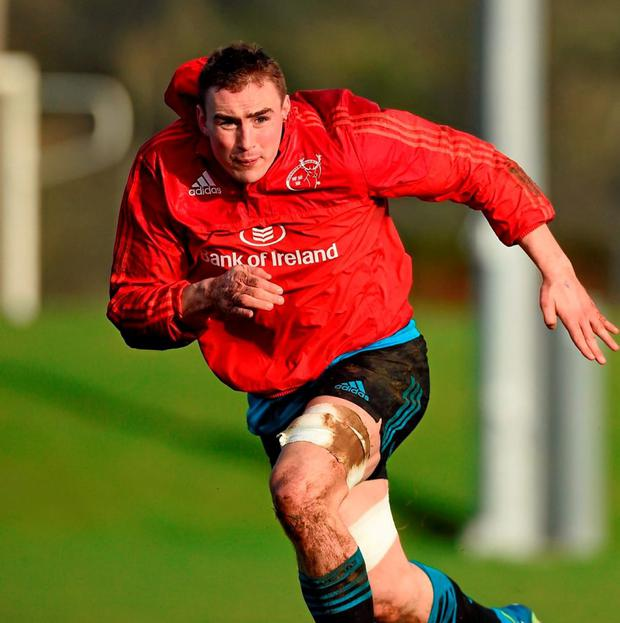 Munster's Tommy O'Donnell is set to return from injury. Photo: Diarmuid Greene / Sportsfile