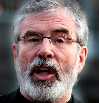 Gerry Adams: SF is not alone in its opposition to non-jury courts Photo: Tom Burke
