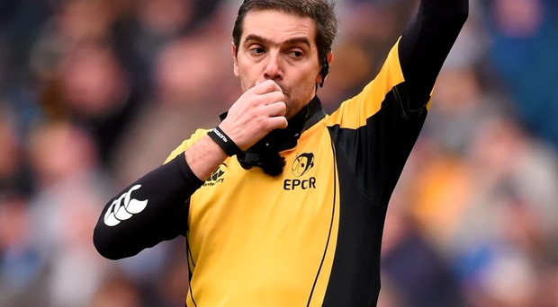 Referee Jerome Garces. Photo: Stephen McCarthy / Sportsfile