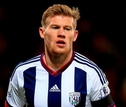 West Bromwich Albion's James McClean will face internal punishment on top of his three-match suspension. Photo: Mike Egerton/PA Wire