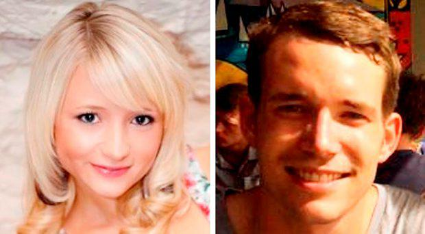 Undated handout file photos issued by the Foreign and Commonwealth Office of Hannah Witheridge, 23, and David Miller, 24