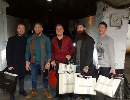 Conor McGregor and pals hit the Dublin shops. Photo: Instagram