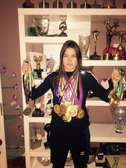 Katie Taylor showed off her incredible medal and trophy haul