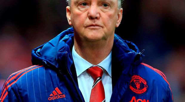 Manchester United manager Louis van Gaal. Photo: Nigel French/PA Wire.