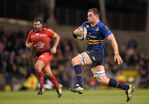 At Leinster Rhys Ruddock, pictured, has stepped up to the mark on the blindside of the scrum and could well nail down that position to face the Welsh (Photo: SPORTSFILE)