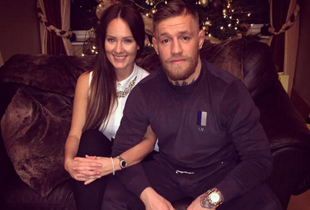 Conor McGregor shared this photo with girlfriend Dee Devlin at Christmas