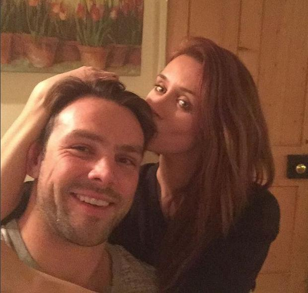 Una and Ben Foden at Christmas. Picture: Instagram
