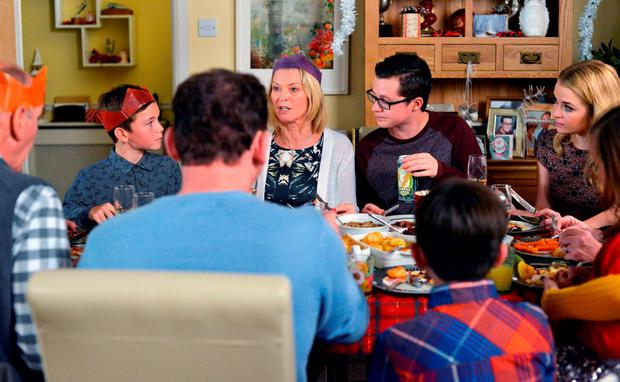 The Beales and the Mitchells spending Christmas Day in each other's company in Eastenders, as viewers are promised an