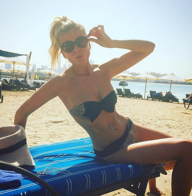 Rob Kearney's girlfriend Jess Redden in Dubai. Picture: Instagram