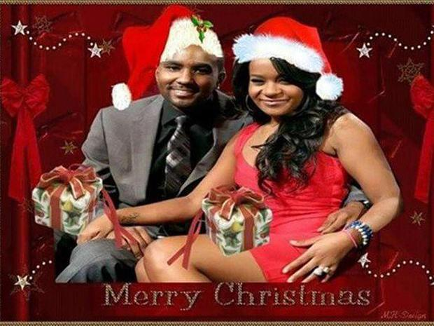 Nick Gordon superimposed a picture of him with late girlfriend Bobbi Kristina Brown as a Christmas card on Twitter