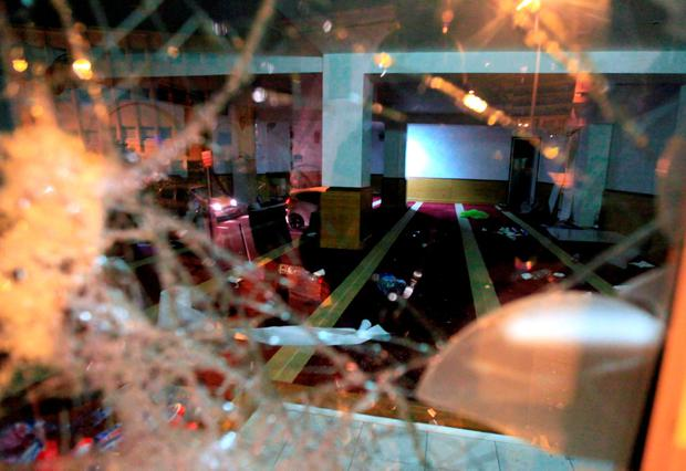 A picture taken on December 25, 2015 shows a devastated prayer room in Ajaccio, after protesters vandalized it and tried to set fire to copies of Koran AFP / Pierre-Antoine FOURNILPIERRE-ANTOINE FOURNIL/AFP/Getty Images