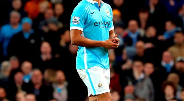 Manchester City's Vincent Kompany walks off injured during the Premier League match against Sunderland at the Etihad Stadium Photo: Martin Rickett/PA Wire