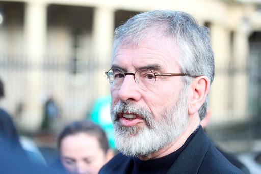 Sinn Fein President Gerry Adams . Photo: Collins