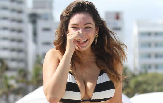 Kelly Brook on the beach in Miami